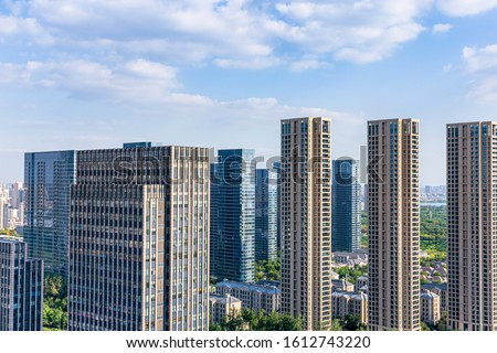 Skyscrapers and skyscrapers in Wuxi City, Jiangsu Province, China #1612743220