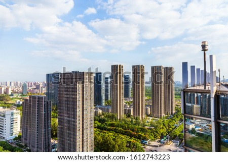 Skyscrapers and skyscrapers in Wuxi City, Jiangsu Province, China #1612743223