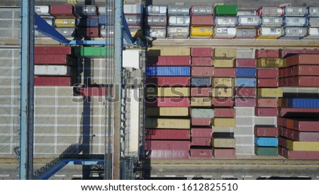 shipping of containers in the port #1612825510