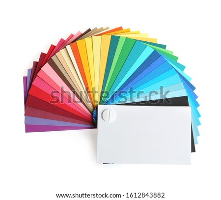 Color palette isolated on white, top view
