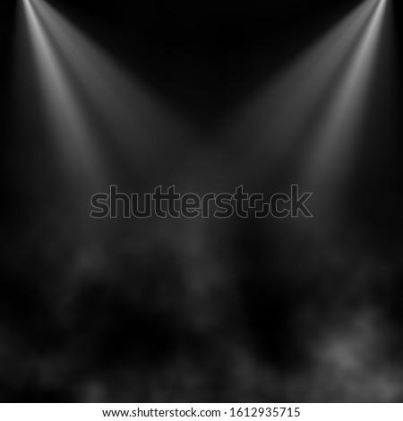 3D render of a grunge background with smoke under spotlights #1612935715