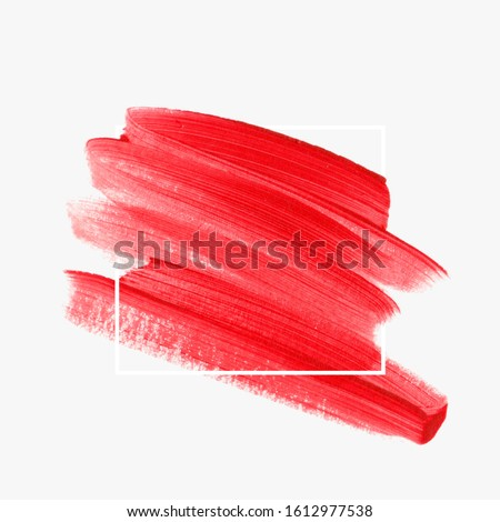 Art brush painted watercolor background vector. Perfect design for logo and sale banner. Make up element. #1612977538