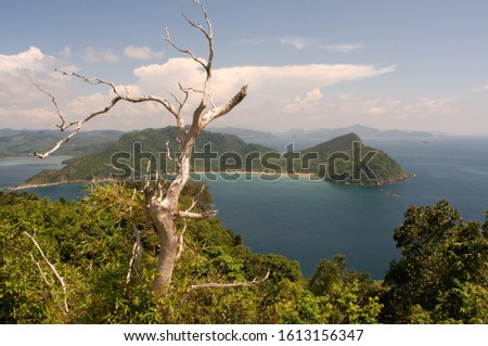 View point from the top of the highest mountain on the island of Pangulasian. Palawan Philippines, Southeast Asia, Asia #1613156347