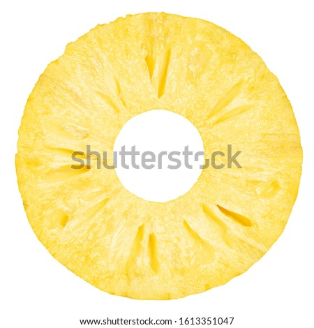 pineapple slice, ring, isolated on white background, clipping path, full depth of field #1613351047