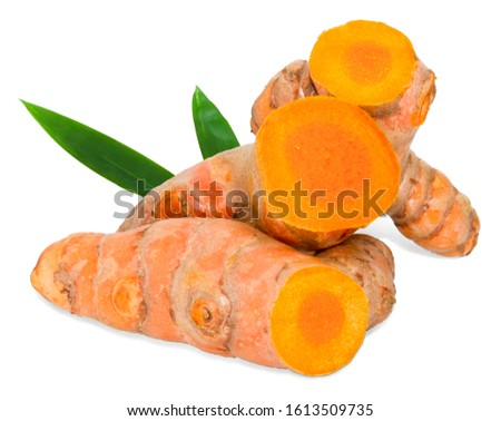 turmeric isolated on white background,with clipping path #1613509735