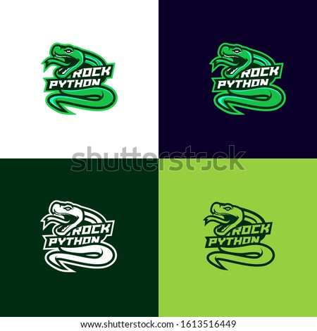 head python snake sport logo design