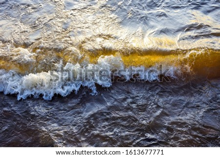 Golden wave as a background. Sea wave, Ocean wave #1613677771