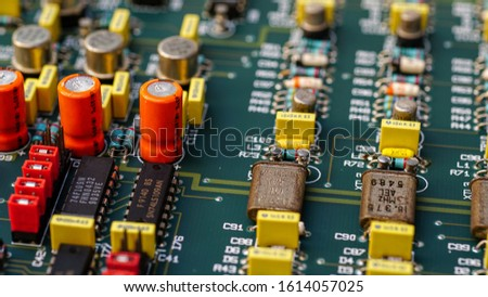 Closeup on Electronic device and electronic board, background #1614057025