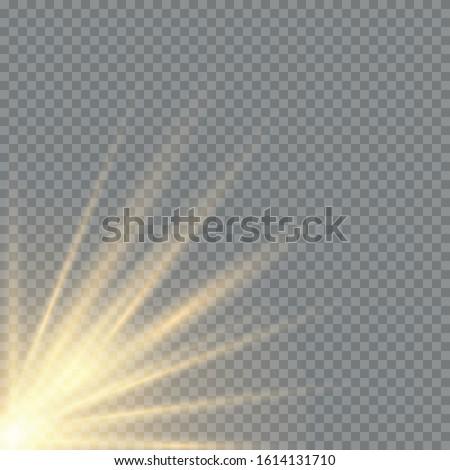 Transparent golden glow effect. Star burst with brilliance #1614131710