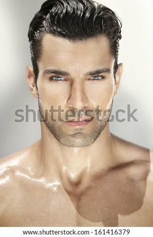 Close up portrait of a very handsome man #161416379