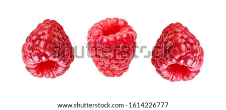 Raspberries isolated on white background with clipping path #1614226777