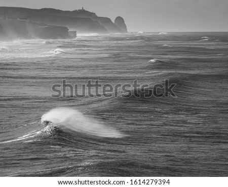 Big ocean waves perfect for surfing #1614279394