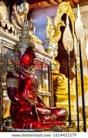 Wat Pa Dara Phirom Phra Aram Luang Chiang Mai Thailand Ruby Buddha #1614421579