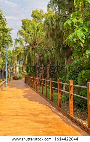 An outdoor recreational walking track #1614422044