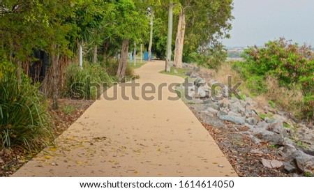 An outdoor recreational walking track #1614614050