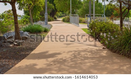 An outdoor recreational walking track #1614614053