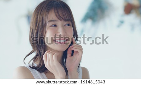 Beauty concept of an asian woman. Royalty-Free Stock Photo #1614615043