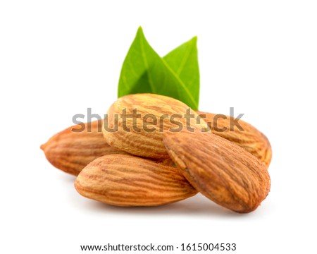 Almonds an  isolated on white background #1615004533