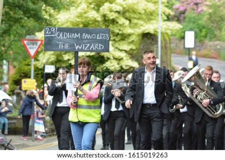 OLDHAM, MANCHESTER/ UK - November 2019: The Saddleworth & District Whit Friday Brass Band Contests take place every year on the afternoon and evening of Whit Friday. #1615019263