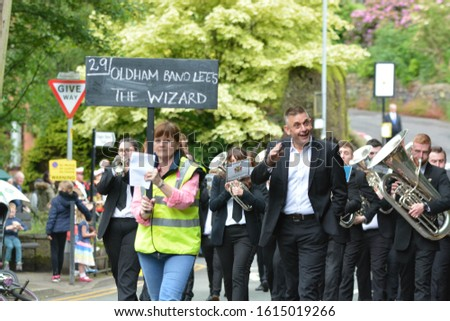OLDHAM, MANCHESTER/ UK - November 2019: The Saddleworth & District Whit Friday Brass Band Contests take place every year on the afternoon and evening of Whit Friday. #1615019266