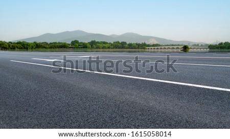 Road Pavement and Natural Landscape of Landscape #1615058014