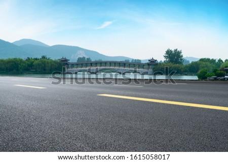 Road Pavement and Natural Landscape of Landscape #1615058017