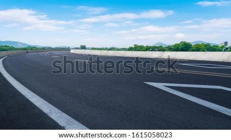 Road Pavement and Natural Landscape of Landscape #1615058023