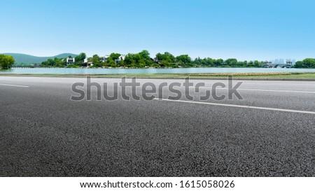 Road Pavement and Natural Landscape of Landscape #1615058026