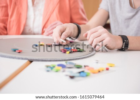 Train hands at rehabilitation with occupational therapy #1615079464