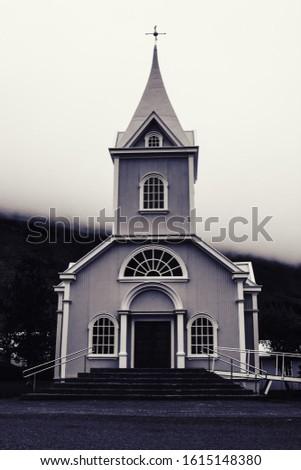 A Little Church Against An Overcast Day #1615148380