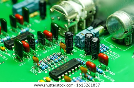 Closeup on Electronic device and electronic board, background image #1615261837