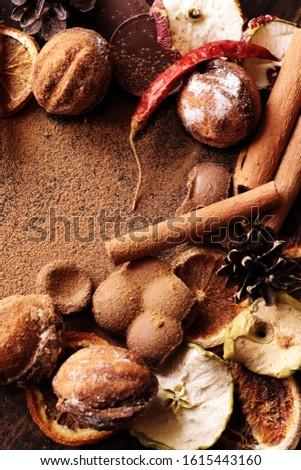 sweet taste, bitter taste, tart taste, pungency. Different textures on one table. #1615443160