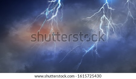 Lightning thunder cloud dark cloudy sky