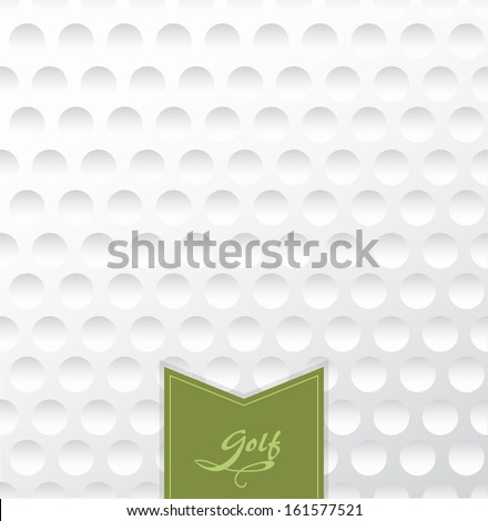 Golf backgrounds. Realistic rendition of golf ball texture closeup.