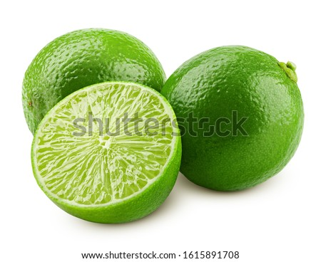 lime isolated on white background, clipping path, full depth of field Royalty-Free Stock Photo #1615891708