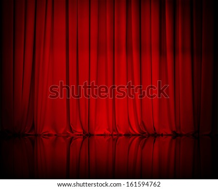 curtain or drapes red background Royalty-Free Stock Photo #161594762