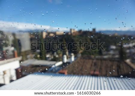 rain in Granada castle sky horizon  #1616030266