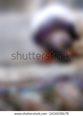 blurred abstract picture of a dove on the pavement, to be used as a background or in an article