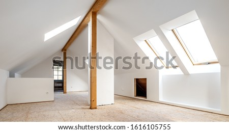 Converting an old attic into a light spacious living room #1616105755