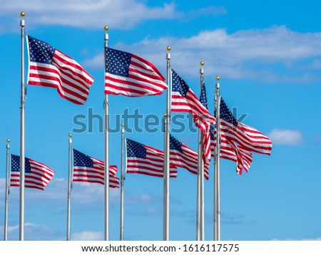 American national flag, stars of the United States of America, proud symbol of unity, independence, democracy, patriotism and freedom #1616117575