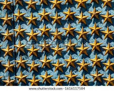 American national flag, stars of the United States of America, proud symbol of unity, independence, democracy, patriotism and freedom #1616117584