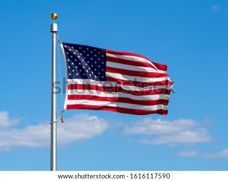 American national flag, stars of the United States of America, proud symbol of unity, independence, democracy, patriotism and freedom #1616117590