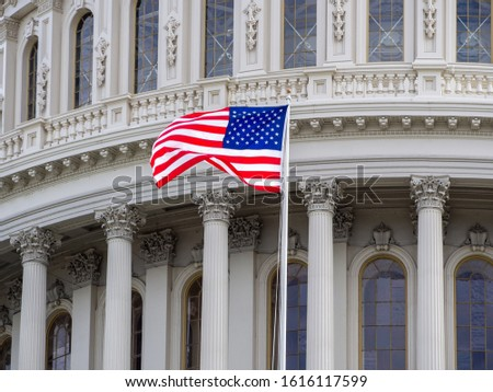 American national flag, stars of the United States of America, proud symbol of unity, independence, democracy, patriotism and freedom #1616117599