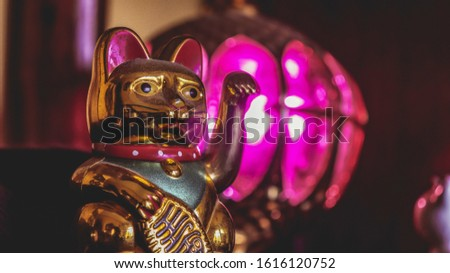 Gold Maneki Neko Figures (Japanese Lucky Cat) #1616120752