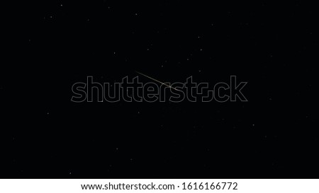 Starry sky with falling star meteoroid