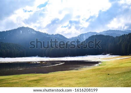 Khajjiar Lake - Mini switzerland in India. Encircled by lush green forests, Khajjiar Lake is a natural splendour, located at an elevation of 1920 mtrs. Among the best places to visit in Himachal #1616208199