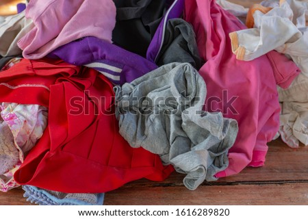 Old heaps of cloth that are hard to degrade according to natural processes. But can be recycled #1616289820