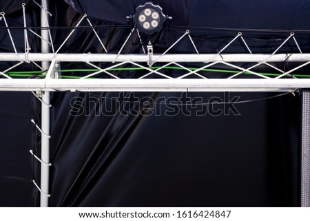 LED spotlights hanging on a stage. #1616424847