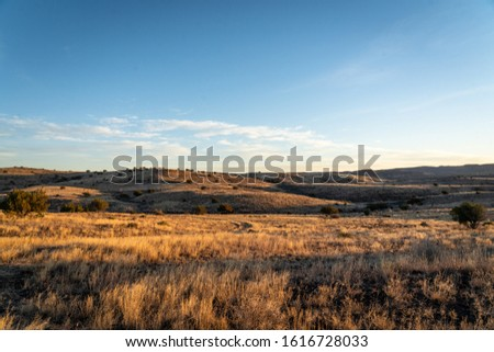 Beautifully rugged and remote West Texas mountain landscapes at sunset  Royalty-Free Stock Photo #1616728033