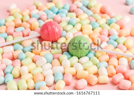 Many types, many flavors and many colors of candy #1616767111